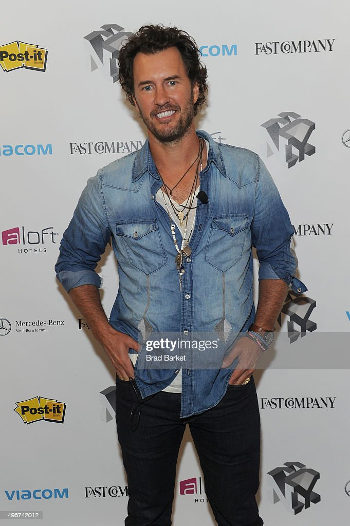 Toms Founder, Blake Mycoskie appears during The Fast Company Innovation Festival presentation of 'The Creativity Of Giving: TOMS Founder Blake Mycoskie and Social Entrepreneur Christy Turlington Burns On How Giving Makes For Better Business' on November 11, 2015 in New York City.