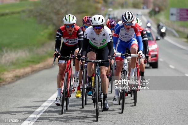 Toms Skujins of Latvia and Team Trek Segafredo / Benjamin King of The United States and Team Dimension Data / Bruno Armirail of France and Team...