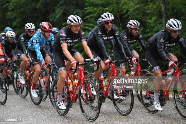 Toms Skujins of Latvia and Team TrekSegafredo / Koen de Kort of The Netherlands and Team TrekSegafredo / Julien Bernard of France and Team...