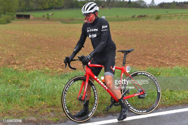 Toms Skujins of Latvia and Team TrekSegafredo / Mechanical Problem / Rain / during the 105th Liege Bastogne Liege 2019 a 256km race from Liege to...