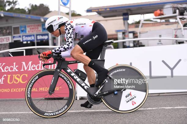 Toms Skujins of Latvia and Team TrekSegafredo rides during stage four of the 13th Amgen Tour of California 2018 San Jose / Morgan Hill a 347 km...