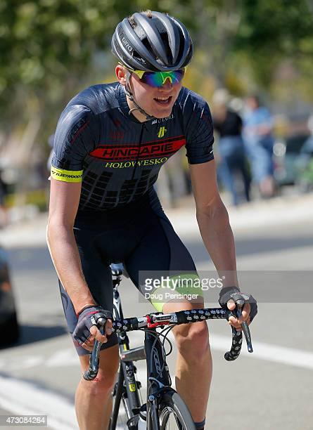 Toms Skujins of Latvia riding for Latvia riding for Hincapie Racing is the last member of the break to stay away as he rides solo to vctory in stage...