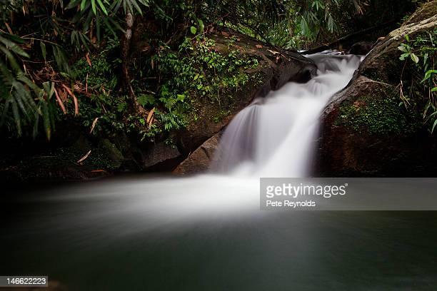 Ton Chong Fa waterfall in Phang Nga, Thailand