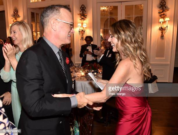 Ton Hanks and Rita Wilson attend the 2018 American Friends of Blerancourt Dinner on November 9 2018 in New York City