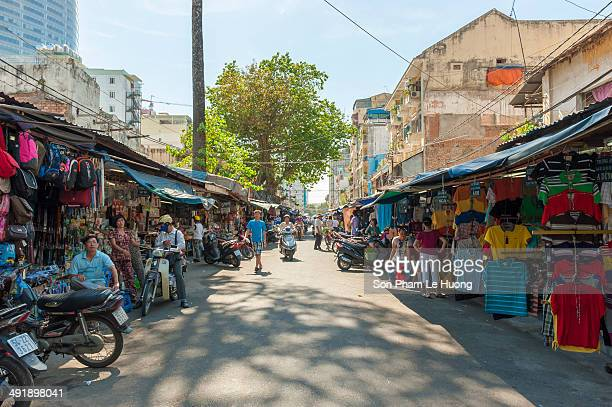 Ton That Dam Market a famous flea maket in Ho Chi Minh City with thousand kind of goods imported Located in an old and small street inside the center...