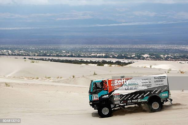 Ton Van Genugten of the Netherlands Anton Van Limpt of the Netherlands and Peter Van Eerd of the Netherlands of PETRONAS TEAM DE ROOY IVECO and in...