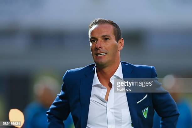 Tondela's head coach Petit during the Premier League 2016/17 match between CD Tondela and SL Benfica at Joao Cardoso Stadium in Tondela on August 13...
