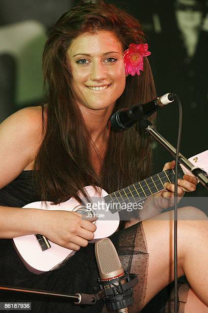 Tone Damli Aagerge performs on stage at the Roy Orbison Birthday Tribute Concert at the Gibson Guitar Studio on April 23 2009 in London England