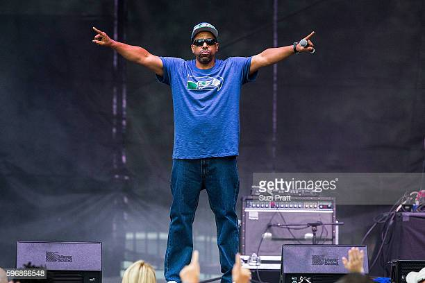 Tone Loc performs on stage during the I Love The 90s Tour at Marymoor park on August 27 2016 in Redmond Washington