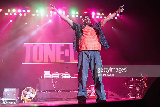 Tone Loc performs on stage during the I Love The 90's Tour at Tacoma Dome on August 26, 2016 in Tacoma, Washington.