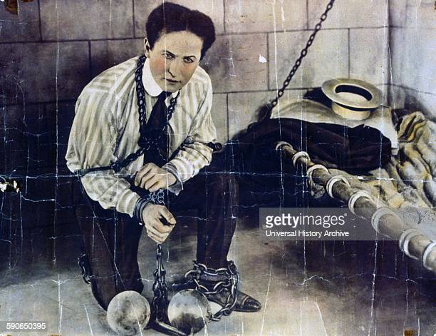 Tone walls and chains do not make a prison for Houdini Houdini followed his performance in 'The master mystery' with the 'Grim game' the first of two...