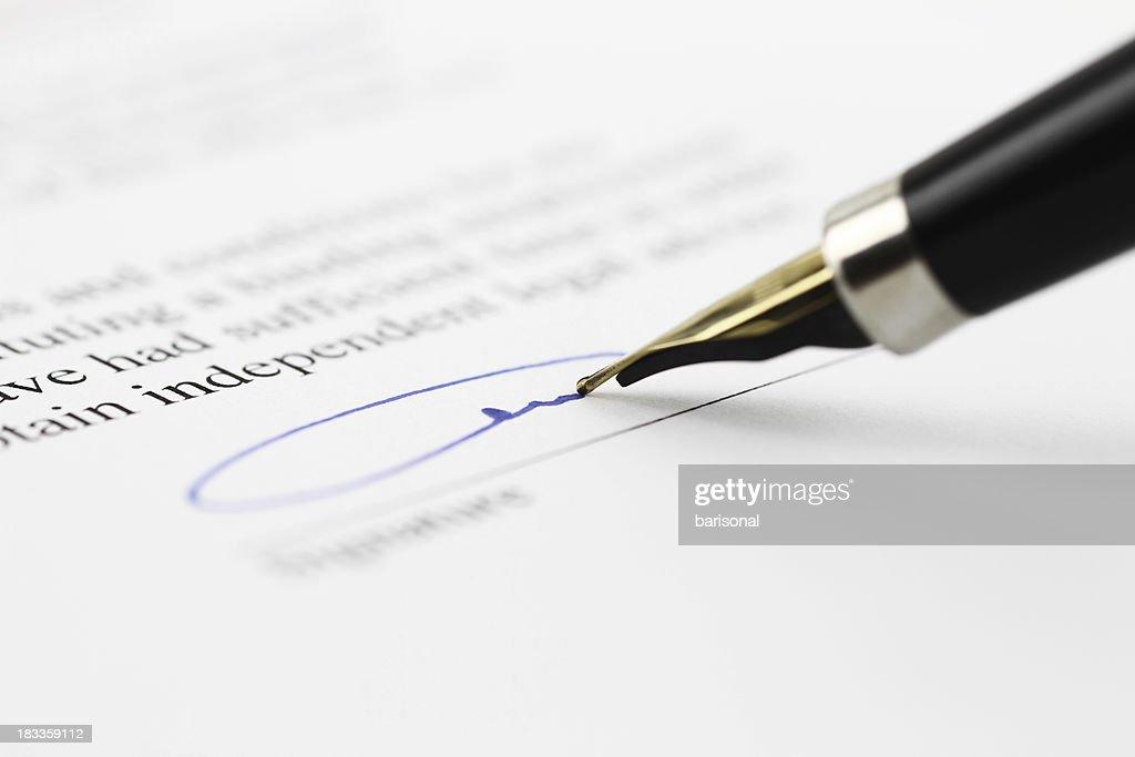 Toned signature : Stock Photo