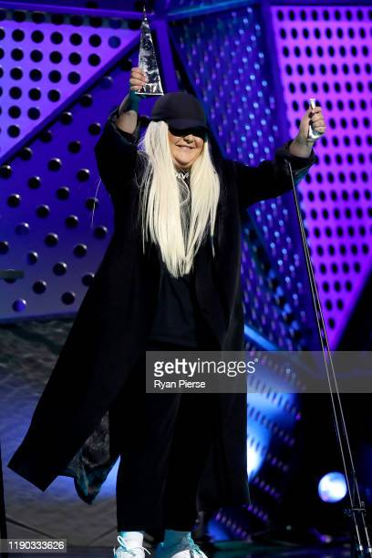 Tones and I accepts the ARIA Award for Best Female Artist during the 33rd Annual ARIA Awards 2019 at The Star on November 27 2019 in Sydney Australia