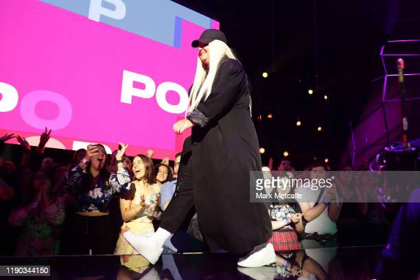Tones and I accepts the ARIA Award for Best Pop Release during the 33rd Annual ARIA Awards 2019 at The Star on November 27 2019 in Sydney Australia