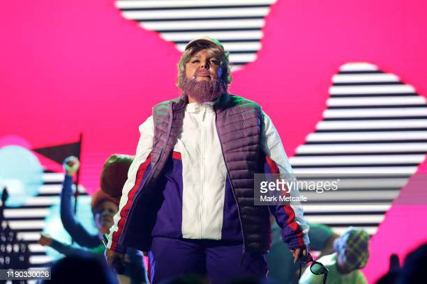 Tones and I performs during the 33rd Annual ARIA Awards 2019 at The Star on November 27 2019 in Sydney Australia