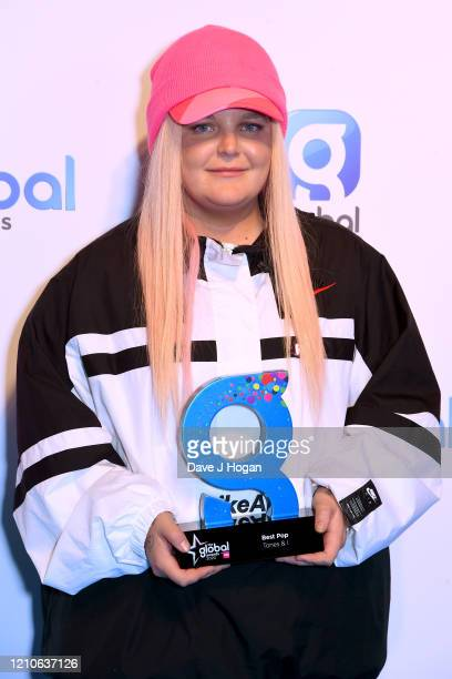 Tones and I with the Best Pop Award during The Global Awards 2020 at Eventim Apollo Hammersmith on March 05 2020 in London England