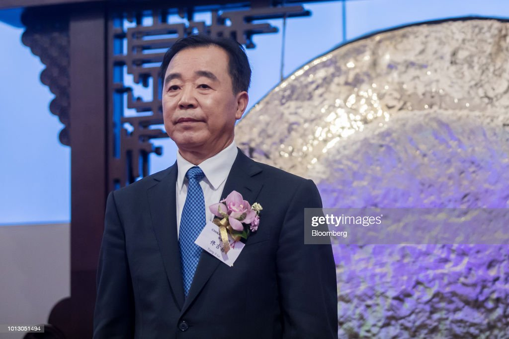 Tong Jilu, chairman of China Tower Corp., attends the company's listing ceremony at the Hong Kong Stock Exchange in Hong Kong, China, on Wednesday, Aug. 8, 2018. China Tower inched up in Hong Kong trading debut after completing the world's largest initial public offering in two years. Photographer: Paul Yeung/Bloomberg via Getty Images