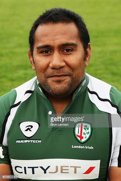 Tonga Lea'aetoa of London Irish poses for a photograph during a media open day at The Avenue on August 26 2008 in Sunbury on Thames England