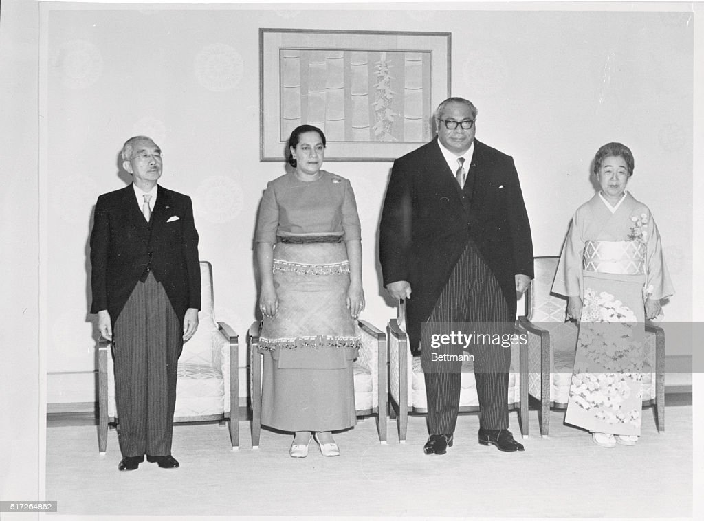 Tonga Royalty Posing with Japanese Leaders : ニュース写真