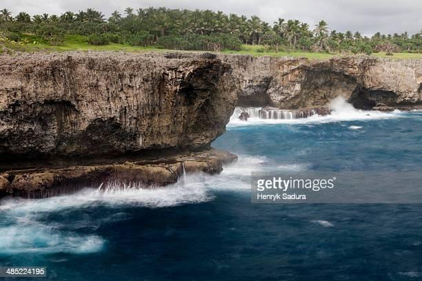 Tonga, Tongatapu Island, Cliffs on coast