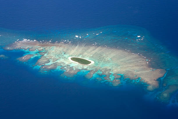 Tonga, Vava'u Islands, small island of Vava'u group, aerial view