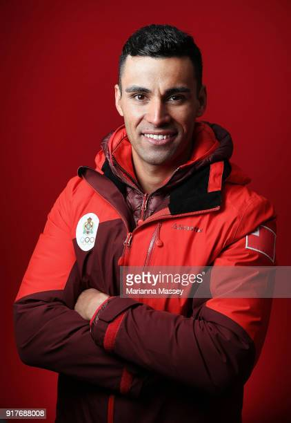 Tongan CrossCountry Skier Pita Taufatofua poses for a portrait on the Today Show Set on February 12 2018 in Gangneung South Korea