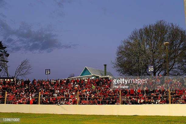Tongan rugby fans surround the field during a Tonga IRB Rugby World Cup 2011 training session at Western Springs Stadium on September 6 2011 in...
