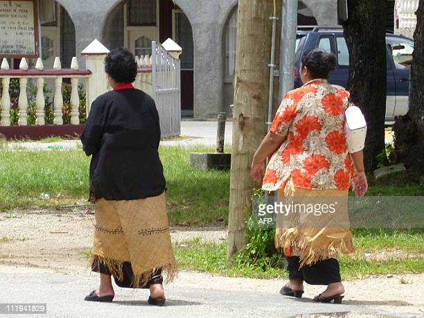 TongaPacifichealthlifestyleobesity FEATURE by Neil SandsThis picture taken on January 7 2011 shows pedestrians walking in a street in Nuku'alofa On...