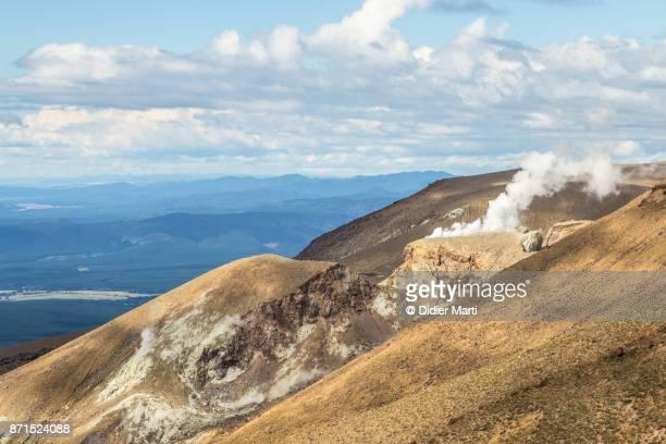 Tongariro volcano in New Zealand north island