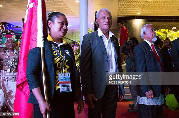 Tonga's Prime Minister Akilisi Pohiva arrives for the official opening of the 46th Pacific Islands Forum in Port Moresby on September 8 2015 The...