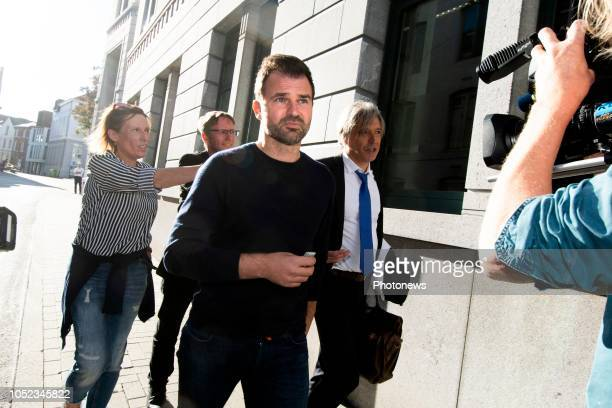 Tongeren BELGIUM on October 11 2018 People involved in the large scale inquiry about fraud corruption money laundering and match fixing in belgian...