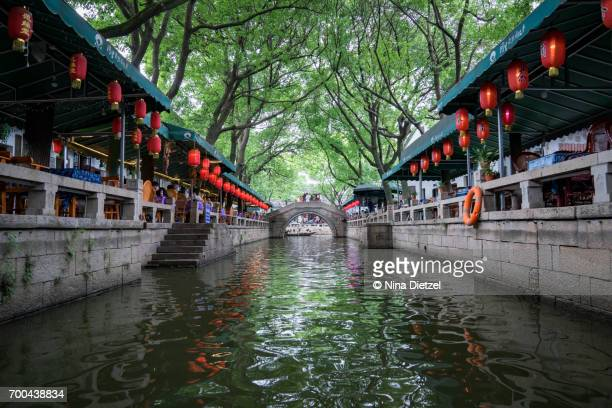 Tongli (Tong–Li), Suzhou, Venice of the East – View of Restaurants from Canal