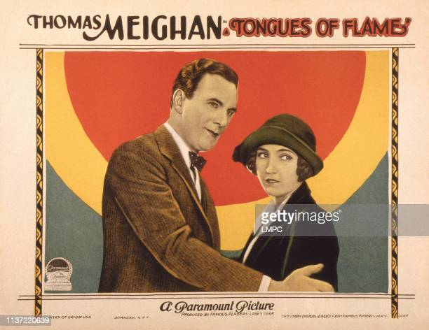 Tongues Of Flame US lobbycard from left Thomas Meighan Bessie Love 1924