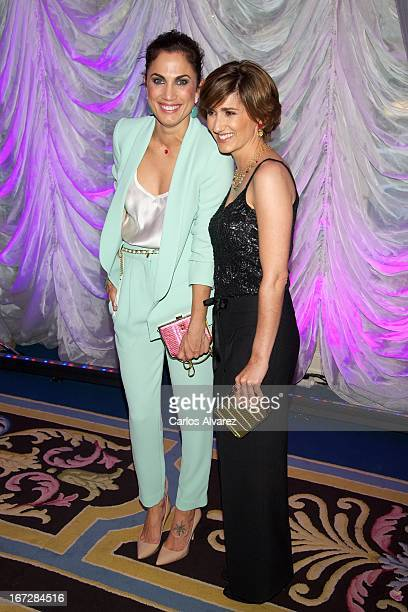 """Toni Acosta and Alejandra Martos attend the presentation of the new fragance """"Rosa"""" at the Ritz Hotel on April 23, 2013 in Madrid, Spain."""