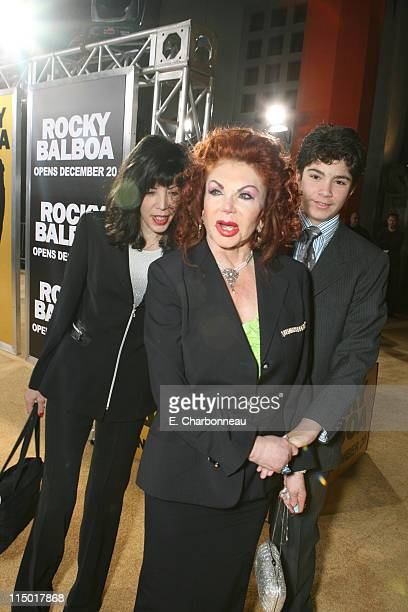 Toni Ann FilitiSchaub Jackie Stallone and guest during MGM Pictures Columbia Pictures and Revolution Studios present the World Premiere of 'Rocky...