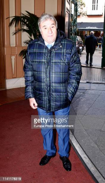 Toni Antonio attends a funeral chapel for Alberto Cortez on April 05 2019 in Madrid Spain