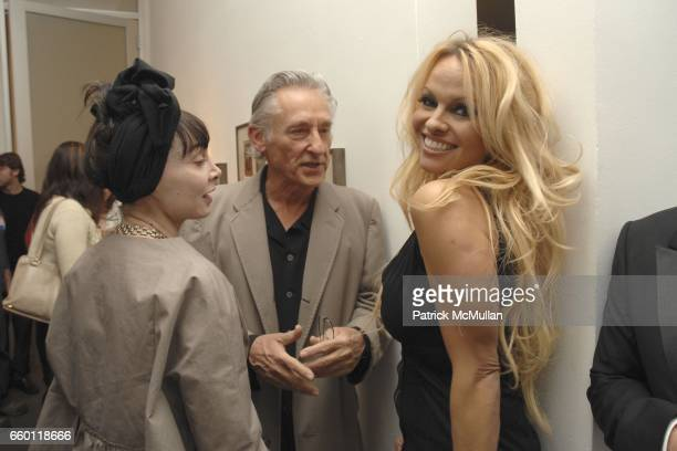 Toni Basil, Ed Ruscha and Pamela Anderson attend SHE: Images of women by Wallace Berman and Richard Prince Opening at Michael Kohn Gallery on January...