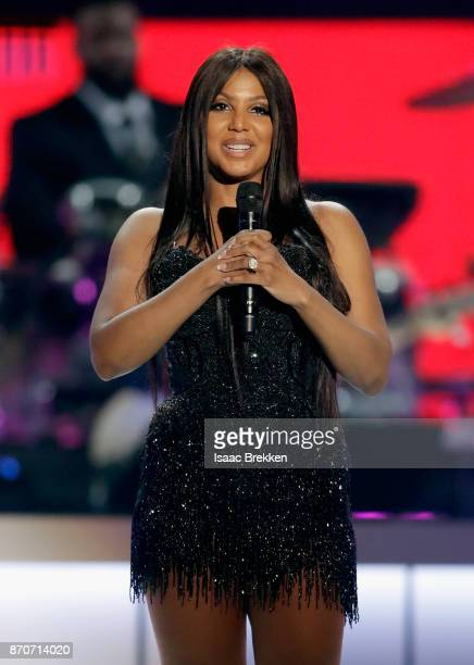 Toni Braxton accepts the Legend Award onstage at the 2017 Soul Train Awards presented by BET at the Orleans Arena on November 5 2017 in Las Vegas...