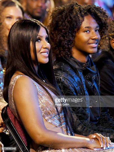 Toni Braxton and Diezel Ky Braxton-Lewis attend the 2017 Soul Train Awards, presented by BET, at the Orleans Arena on November 5, 2017 in Las Vegas,...
