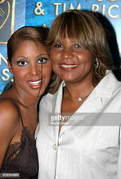 Toni Braxton and her Mom Evelyn Braxton during After Party Celebrating Toni Braxton's Opening Night as Disney's Aida at Laura Belle in New York City,...