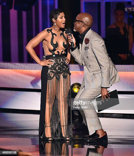 Toni Braxton and Jonathan Slocumb onstage at the UNCF 'An Evening of Stars' at Boisfeuillet Jones Atlanta Civic Center on April 12 2015 in Atlanta...