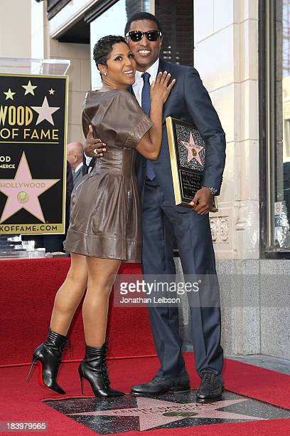 Toni Braxton and Kenny 'Babyface' Edmonds attend the ceremony honoring Kenny 'Babyface' Edmonds with a Star on The Hollywood Walk of Fame on October...