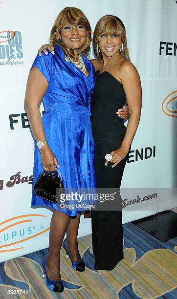 Toni Braxton and mom Evelyn Braxton arrive at the 8th Annual Bag Ladies Luncheon at the Beverly Wilshire Four Seasons Hotel on November 16, 2010 in...