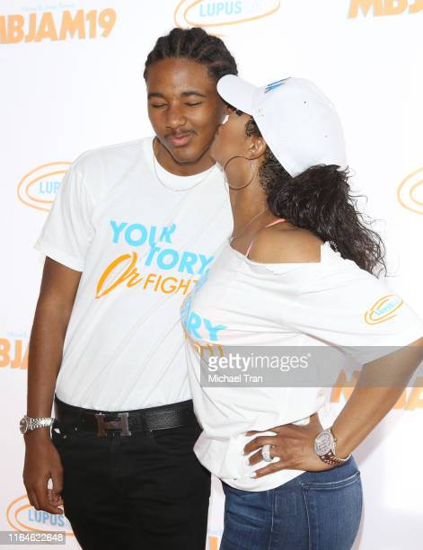 Toni Braxton and son, Diezel Ky Braxton-Lewis attend the Lupus LA presents - 3rd Annual MBJAM19 held at Dave & Busters on July 27, 2019 in Hollywood,...