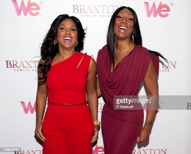 "Toni Braxton and Towanda Braxton attend the ""Braxton Family Values"" Season Three premiere party at STK Rooftop on March 13, 2013 in New York City."