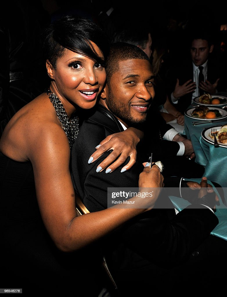 Toni Braxton and Usher at the 52nd Annual GRAMMY Awards - Salute To Icons Honoring Doug Morris held at The Beverly Hilton Hotel on January 30, 2010 in Beverly Hills, California.