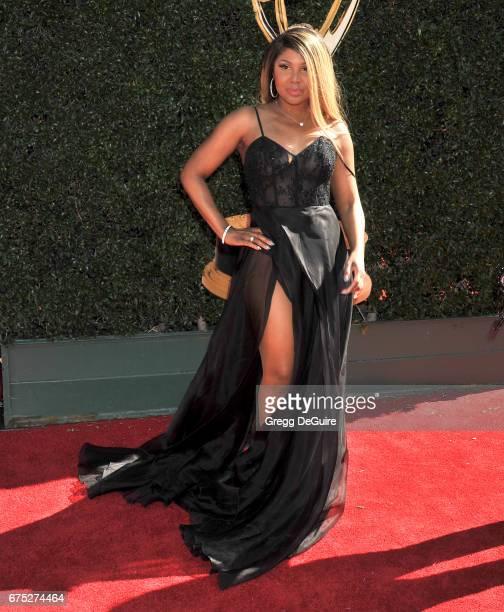 Toni Braxton arrives at the 44th Annual Daytime Emmy Awards at Pasadena Civic Auditorium on April 30 2017 in Pasadena California