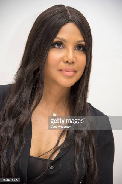 "Toni Braxton at the ""Faith Under Fire"" Press Conference at the Four Seasons Hotel on January 13, 2018 in Beverly Hills, California."