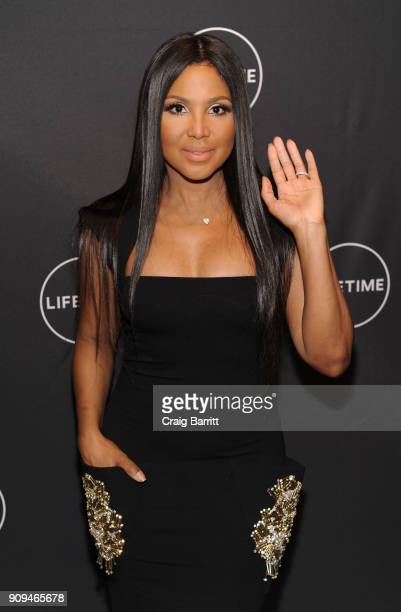 Toni Braxton attends Lifetimes FilmFaith Under Fire The Antoinette Tuff Story red carpet screening and premiere event at NeueHouse Madison Square In...