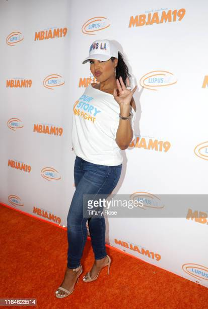 Toni Braxton attends Michael B Jordan's MBJAM at Dave Buster's Hollywood on July 27 2019 in Hollywood California